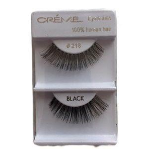 NWT the Creme Shop #218 Black 100% Human Hair Eye